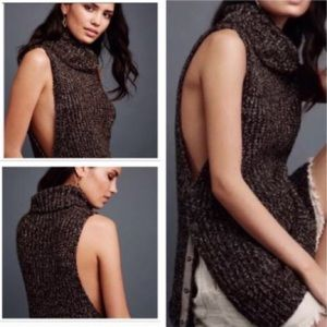 Free People Valentina Tunic Sweater Cowl Neck Md